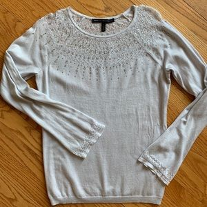 Silver WHBM light sweater EUC size S